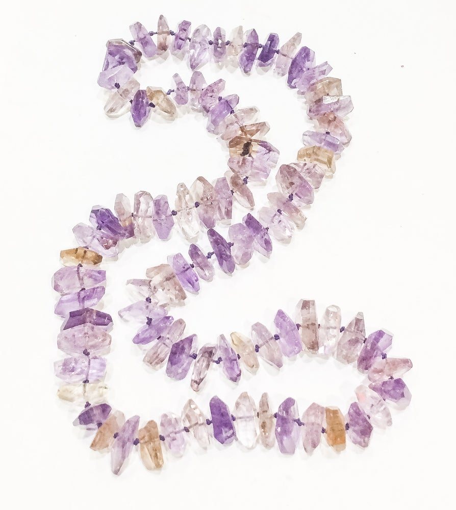 Image of Long Strand of Ametrine