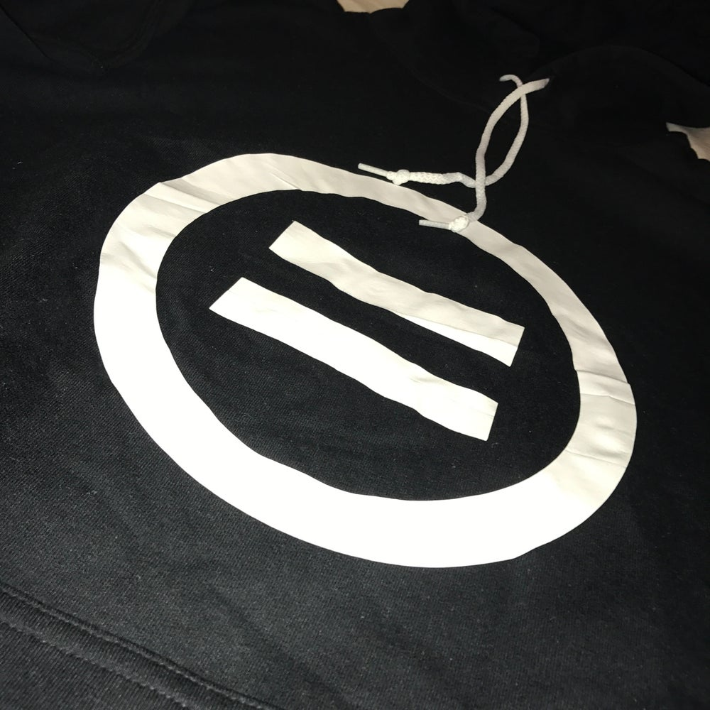 Image of Signature Equal Logo Hoodie in Black/White