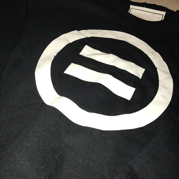 Image of Signature Equal Logo Crewneck in Black