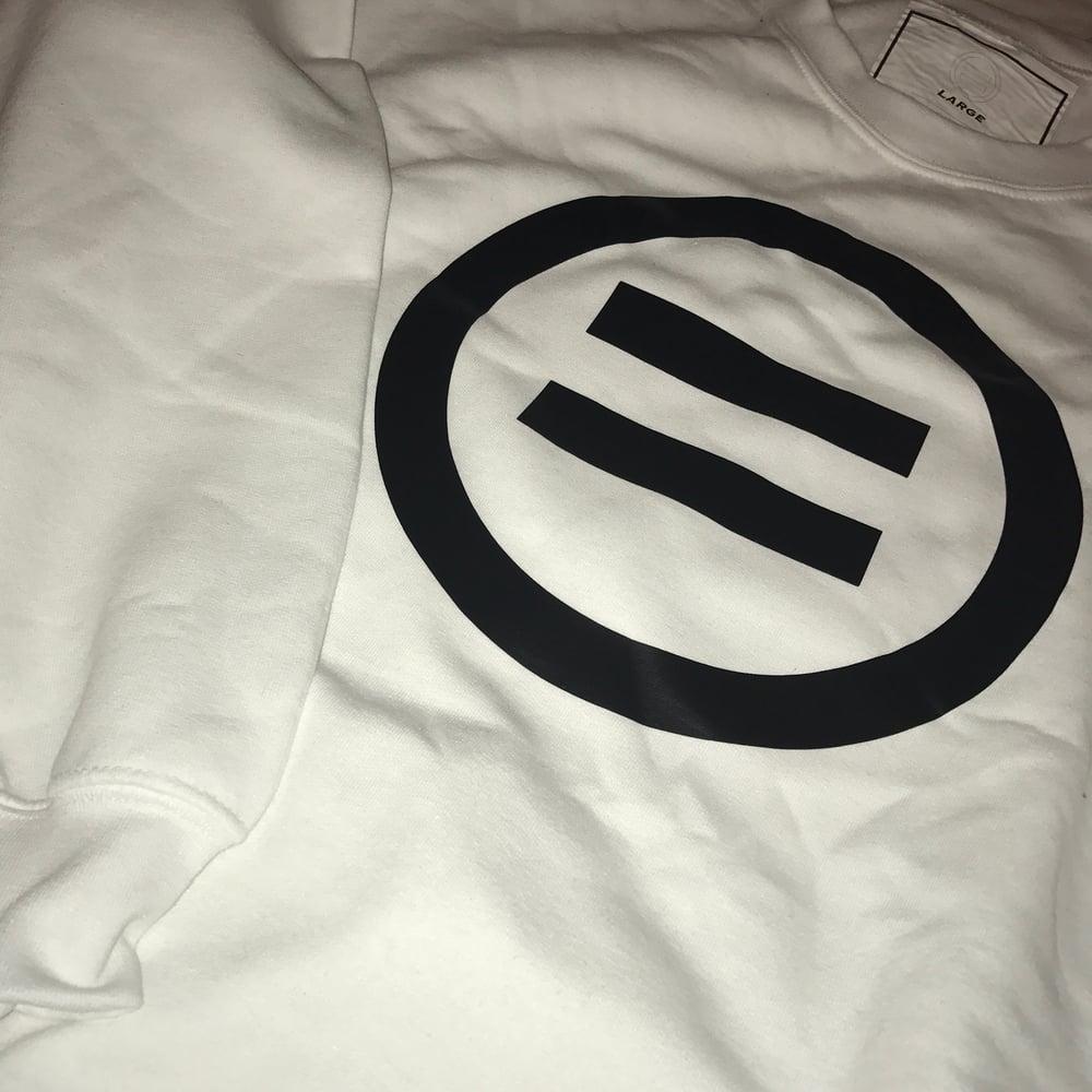 Image of Signature Equal Logo Crewneck in White