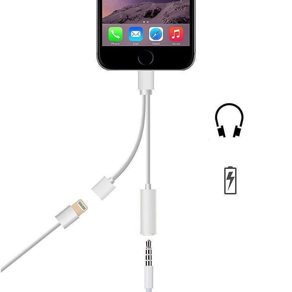 Image of 2 in 1 Lightning/3.5mm Jack Adapter for iPhone 7 (Charge & Listen to music)2
