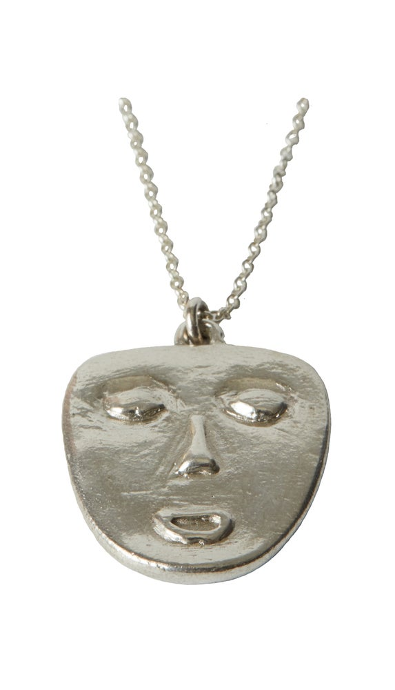 Image of Mask Necklace silver