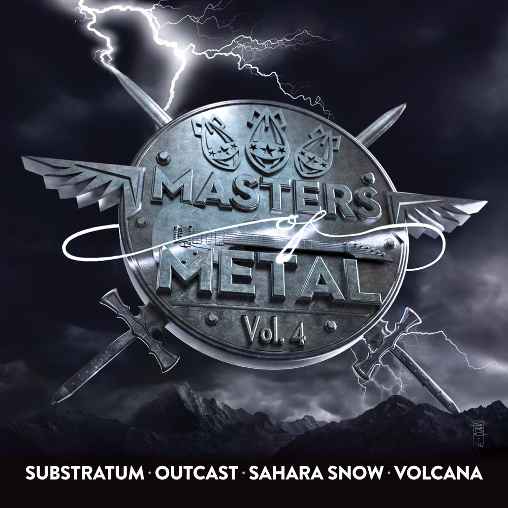 Image of V/A (SUBSTRATUM - OUTCAST - SAHARA SNOW - VOLCANA) - Masters Of Metal: Volume 4