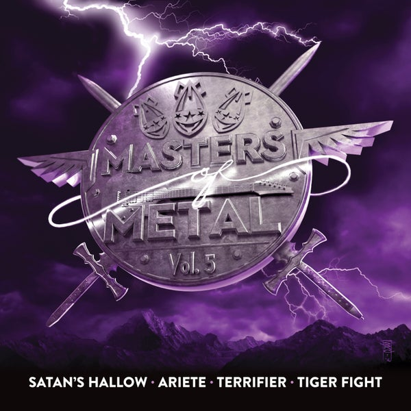 Image of V/A (SATAN'S HALLOW - ARIETE - TERRIFIER - TIGER FIGHT) - Masters Of Metal: Volume 5
