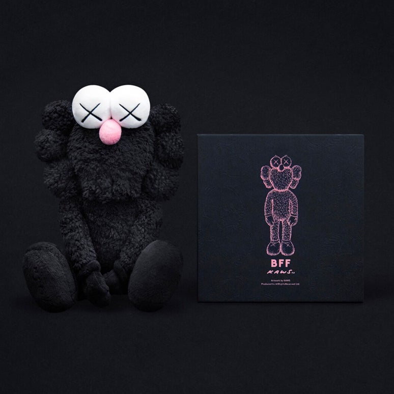 Image of Kaws BFF plush - Black