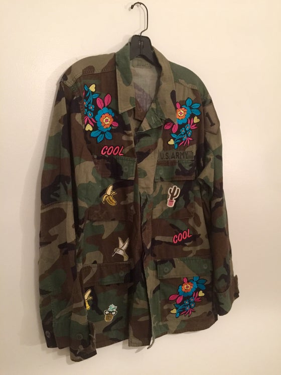 Image of Patched Camo Jacket