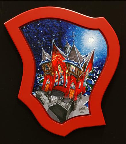 Image of Hillhurst United Church Custom framed Limited Edition Giclee