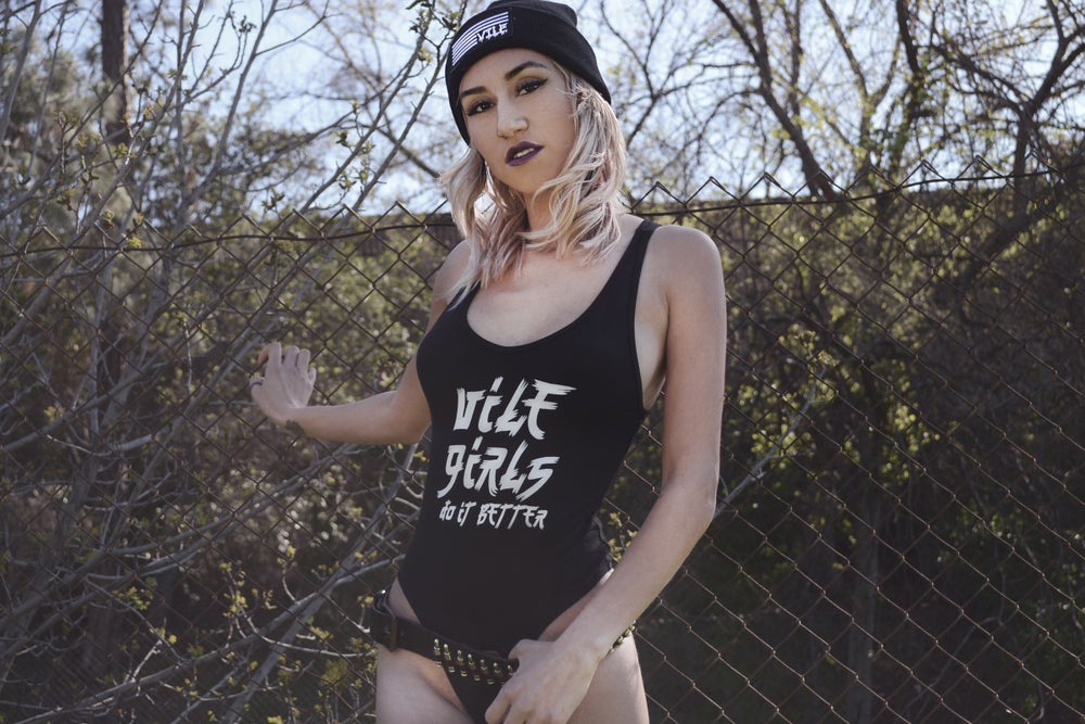 Image of VILE GIRLS DO IT BETTER BODY SUIT