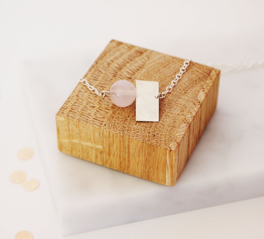 Image of Quartz And Square Necklace