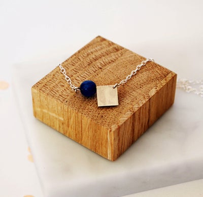 Image of Jade And Square Necklace