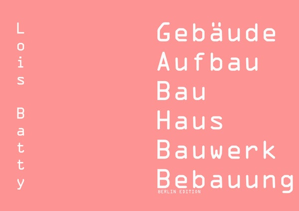 Image of BERLIN EDITION zine