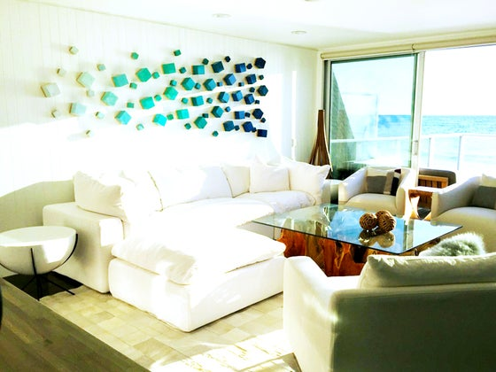 Image of 'OCEAN BREEZE CUBED' | Wood Wall Sculpture | Modern Wall Decor | 3D Wall Art | Original Art