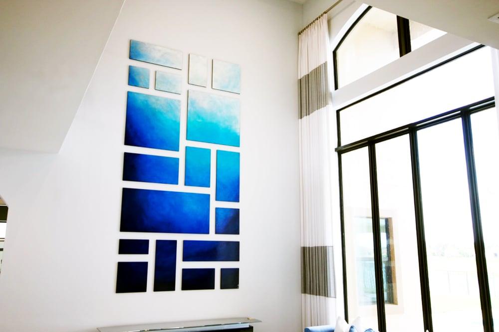 Image of 'MEMORIES OF SANTORINI'   Abstract Wall Art   Wood Wall Art   Modern Wall Decor