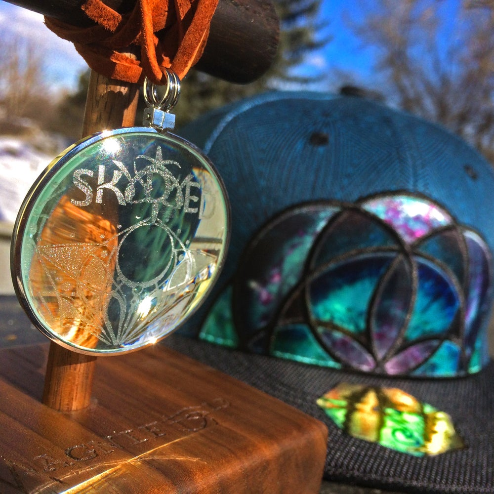Image of Magnifeye13 x Skydyed - Solar Lighter Glass Pendant
