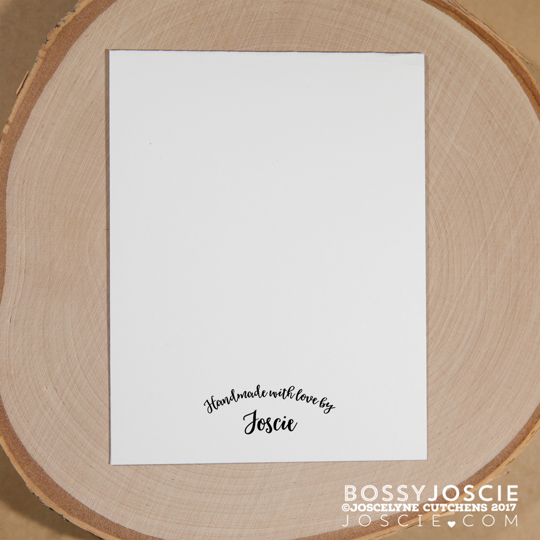 Image of Handmade with love by Personalized Stamp