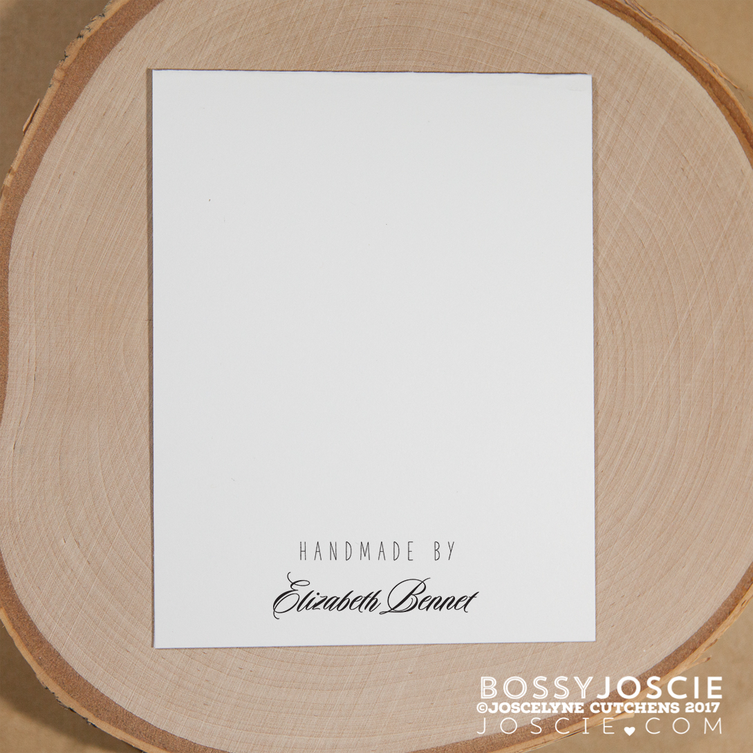 Image of Handmade by Personalized stamp