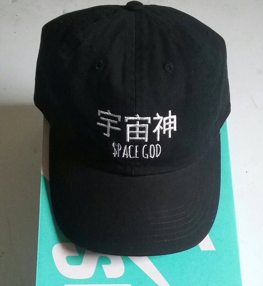 Image of SPACE GOD EMBROIDERED CAP *BLACK* (LIMITED)