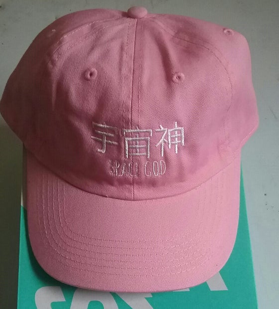 Image of SPACE GOD EMBROIDERED CAP  *PINK* (LIMITED)