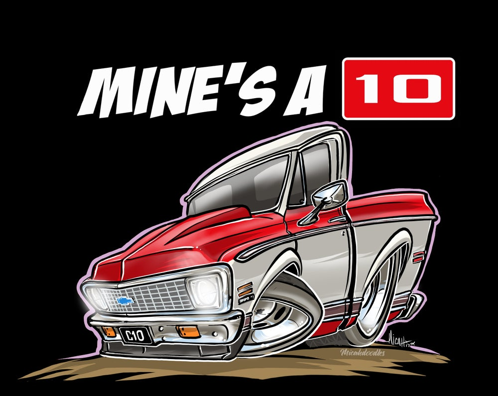Image of MINE'S A 10-C10 RED