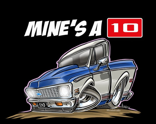 Image of Mine's a 10-c10 BLUE