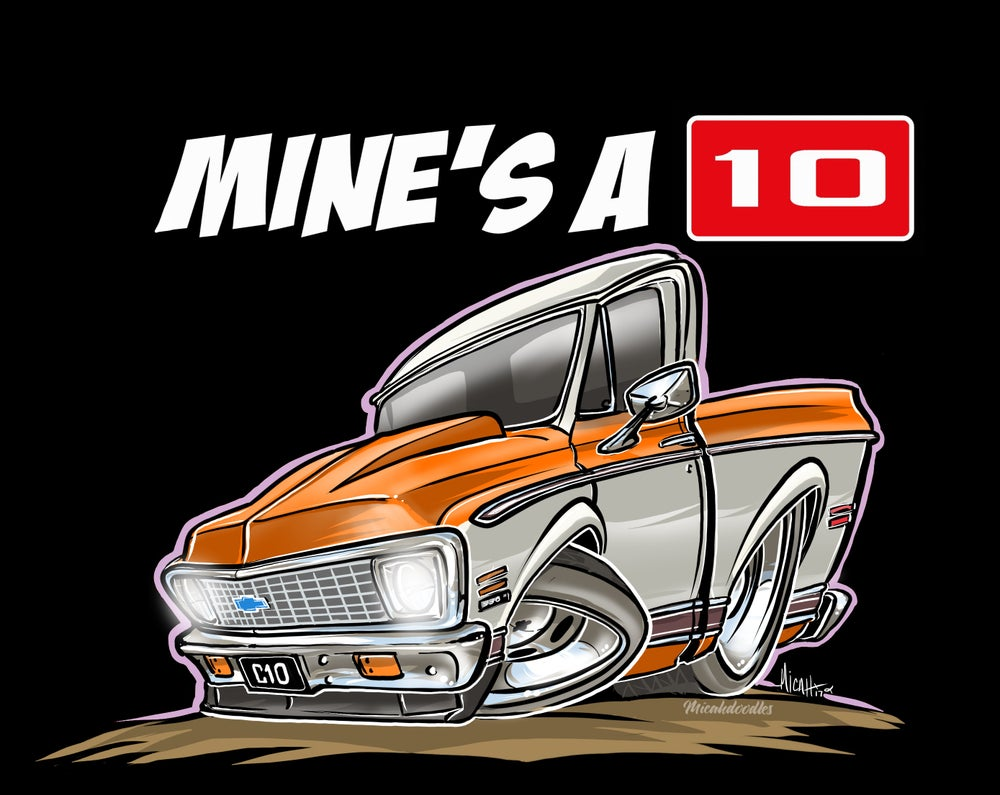 Image of MINE'S A 10 ORANGE