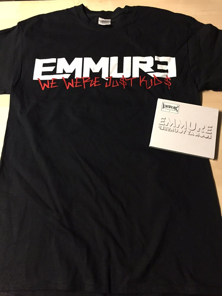 Image of EMMURE - LOOK AT YOURSELF - CD/SHIRT COMBO DEAL #6 SIZE S, M, L & XL