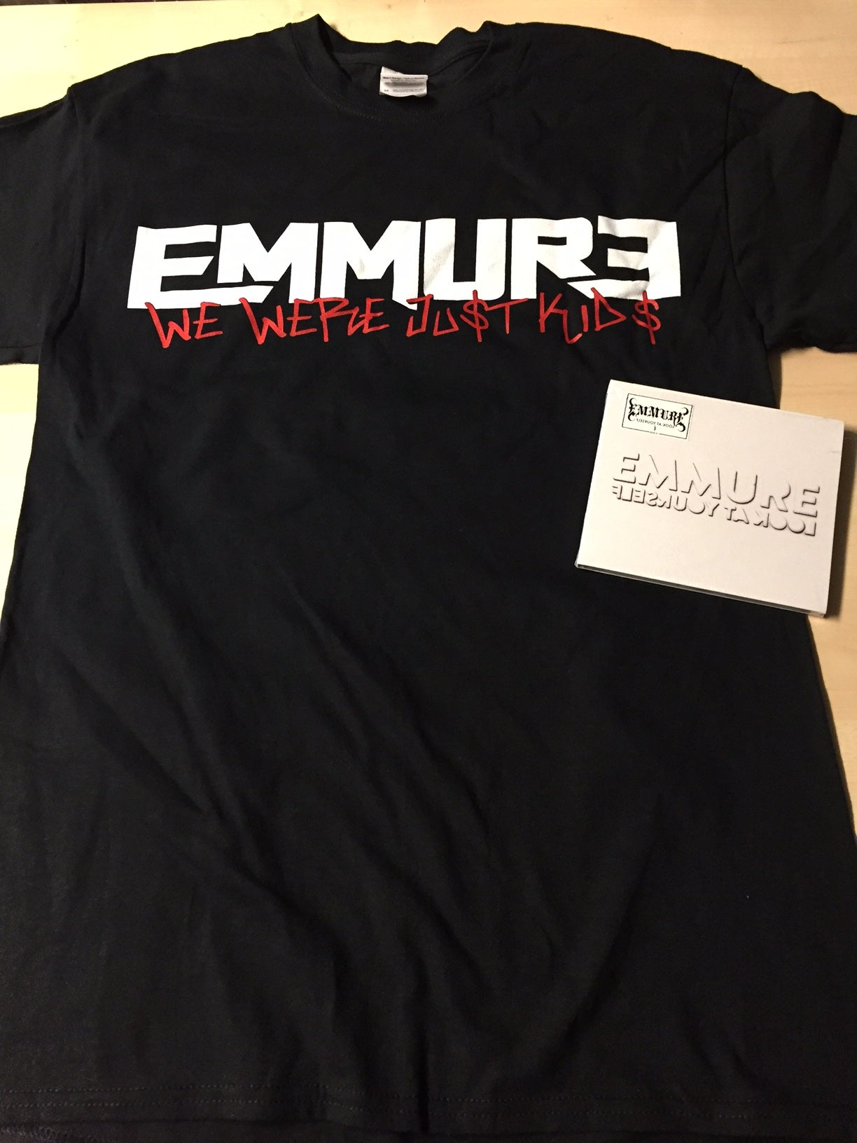 Image of EMMURE - LOOK AT YOURSELF - NEW CD/SHIRT COMBO DEAL #6 SIZE S, M, L & XL