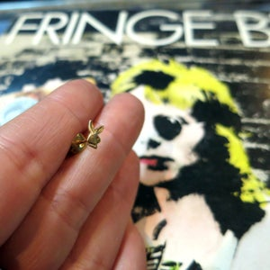 Image of Solid Brass Playboy Bunny Single Earring