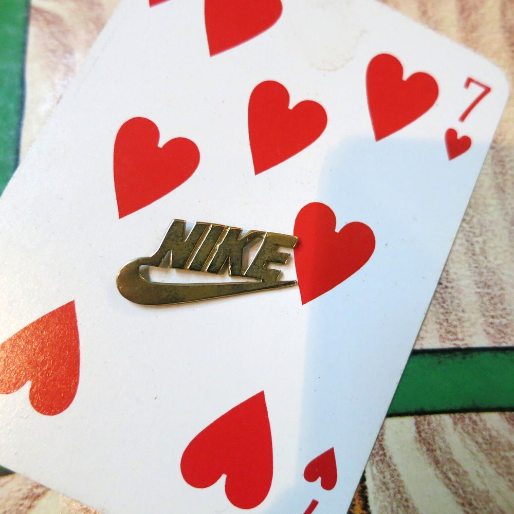 Image of Solid Brass Casted NIKE Emblem Logo PIN