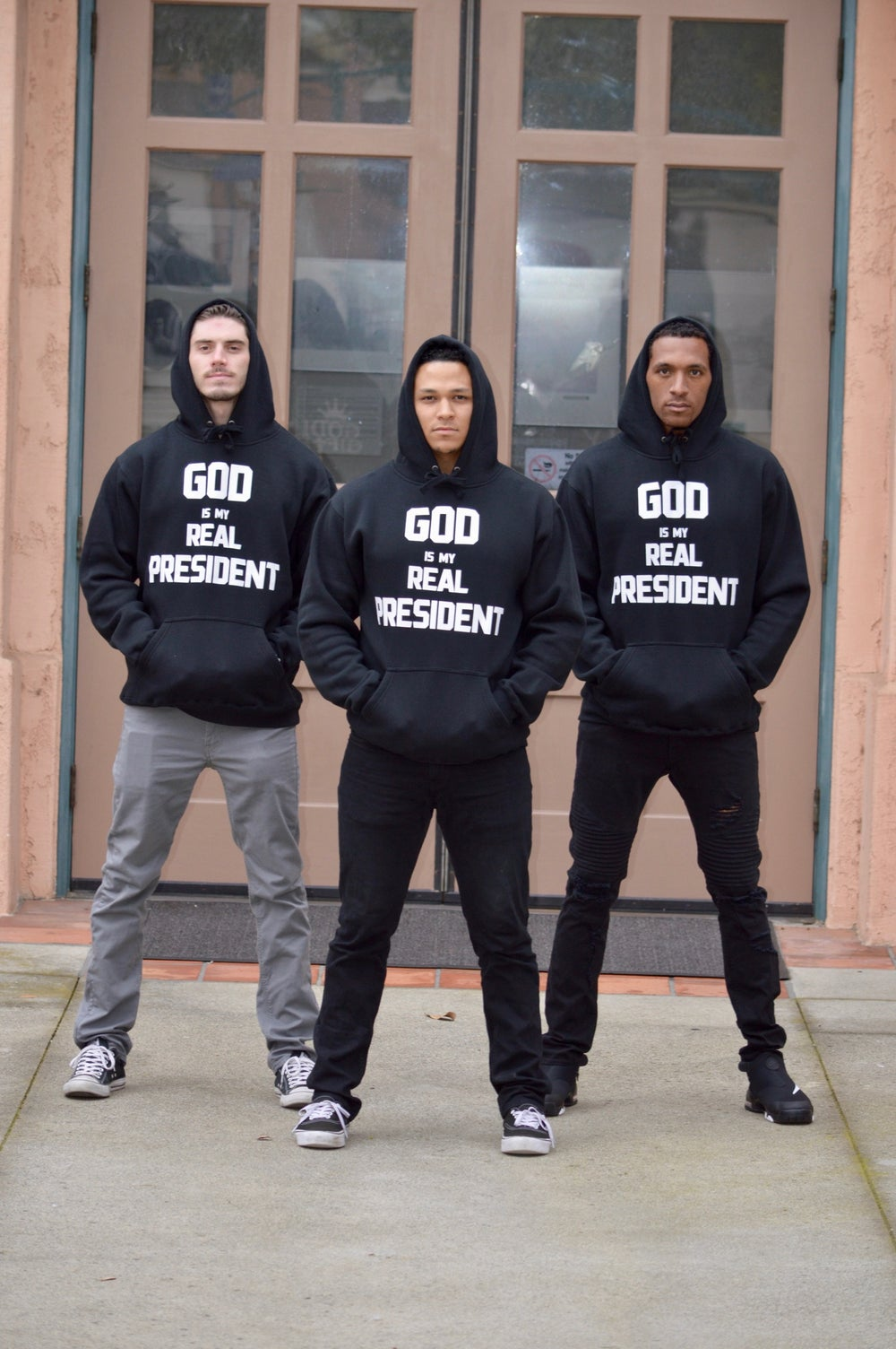 "Image of GG Heavy Hoodie - ""GOD IS MY REAL PRESIDENT"""