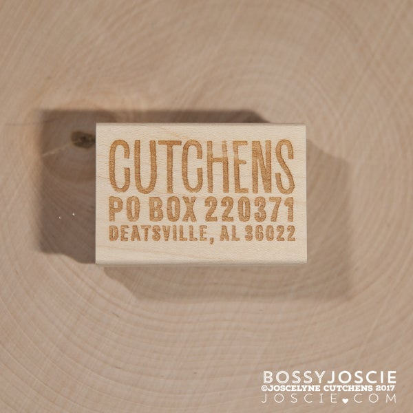Image of Small Distressed Return Address Stamp