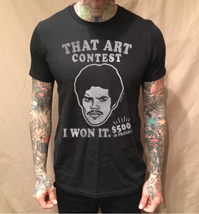 Image of ART CONTEST ON BLACK TEE