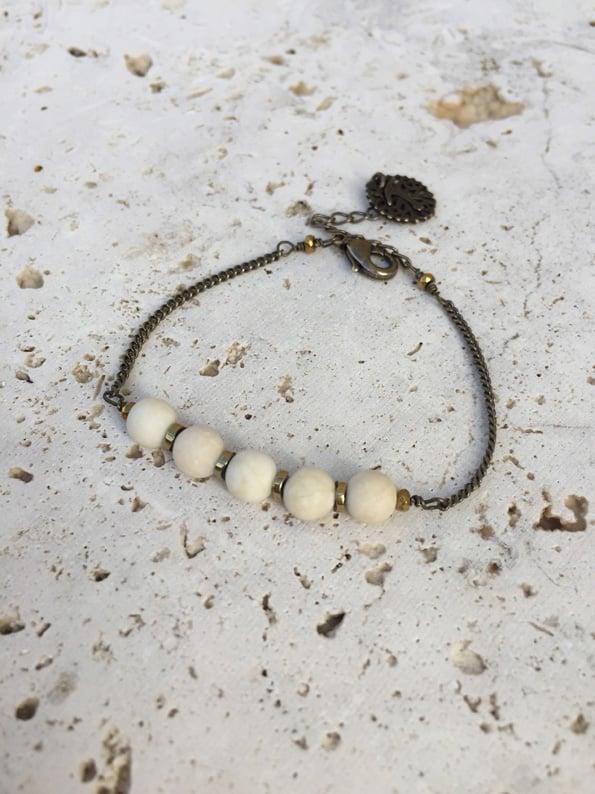 Image of Bracelet fin pierres WILD