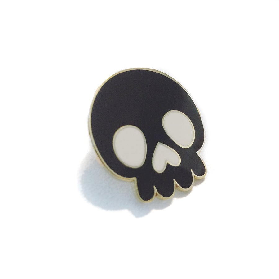 Image of SKULLY B. - Black Hard Enamel Pin