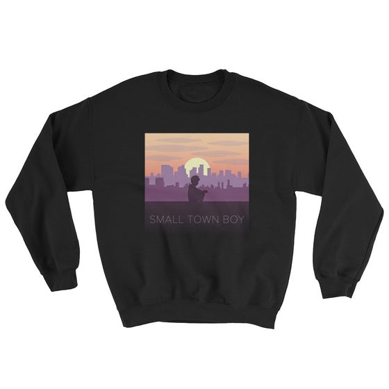 Image of Small Town Boy Black Crewneck