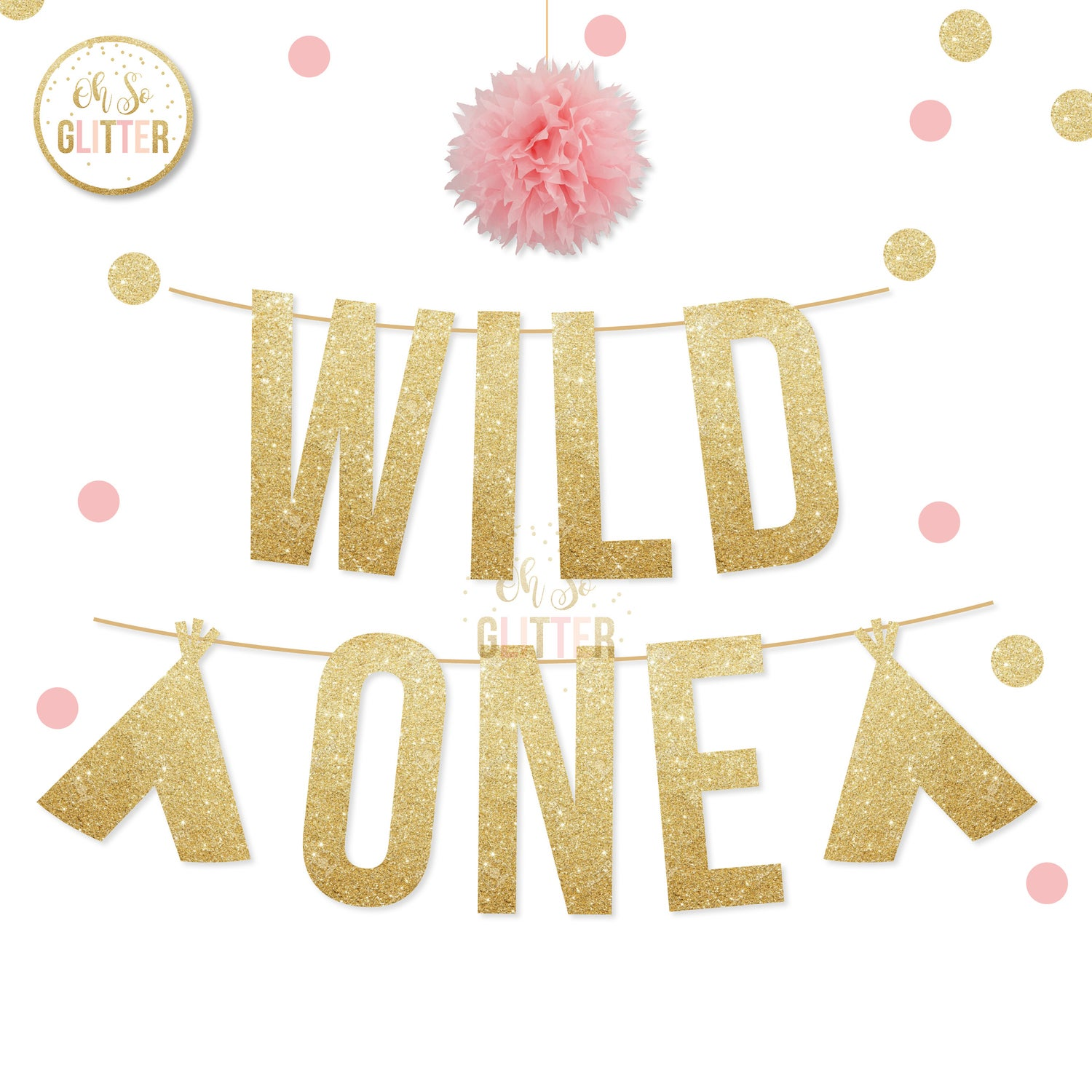Image of Wild one glitter banner