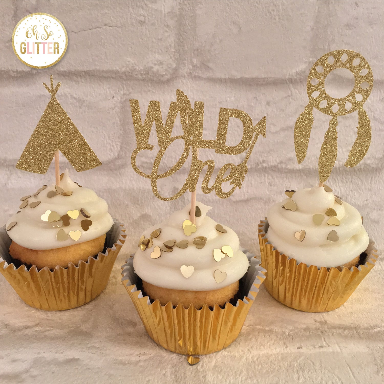 Image of Wild One cupcake toppers - pack of 6