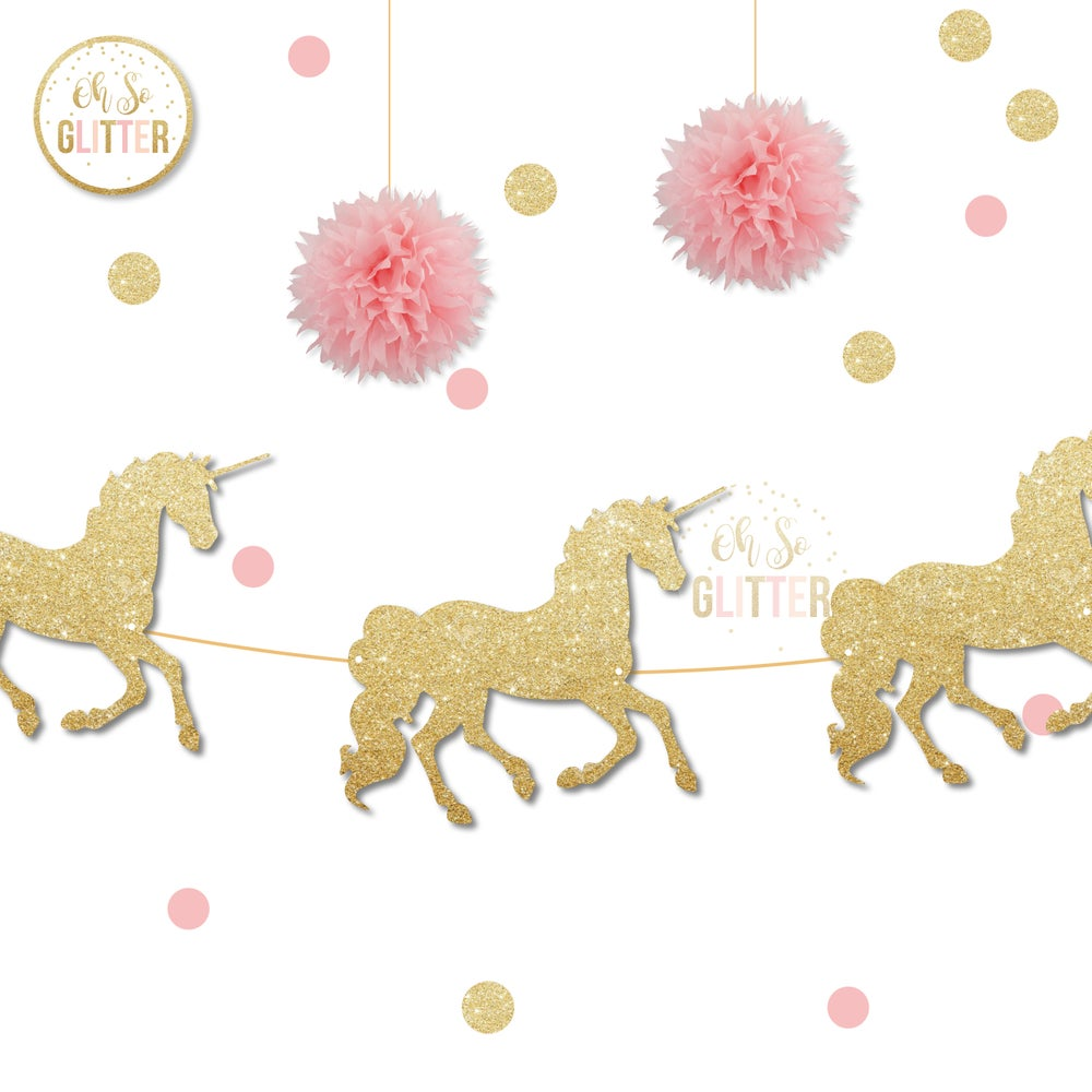 Image of Unicorn Glitter banner