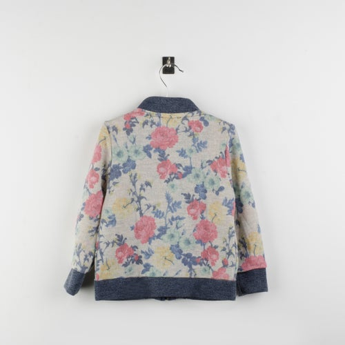 Image of Bomber felpa estampada flores/ flower fleece jacket