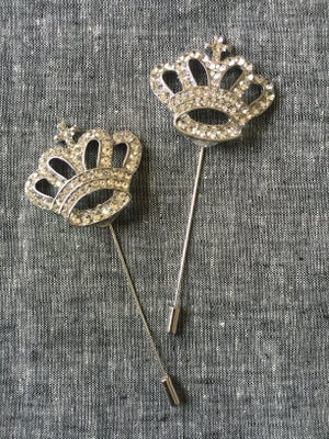 Image of Crown Me Lapel Pin