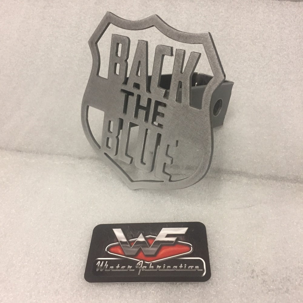 "Image of ""Back The Blue"" Hitch Cover"
