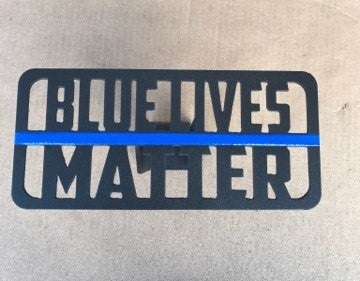 "Image of ""Blue Lives Matter"" Hitch Cover"