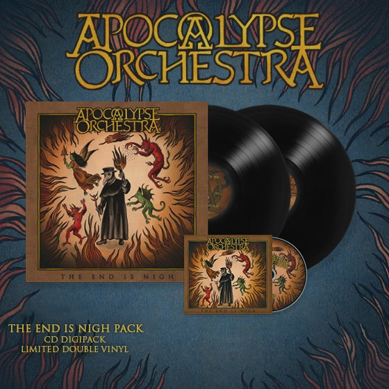 Image of Apocalypse Orchestra - The End Is Nigh Pack (CD/Limited 2xLP)