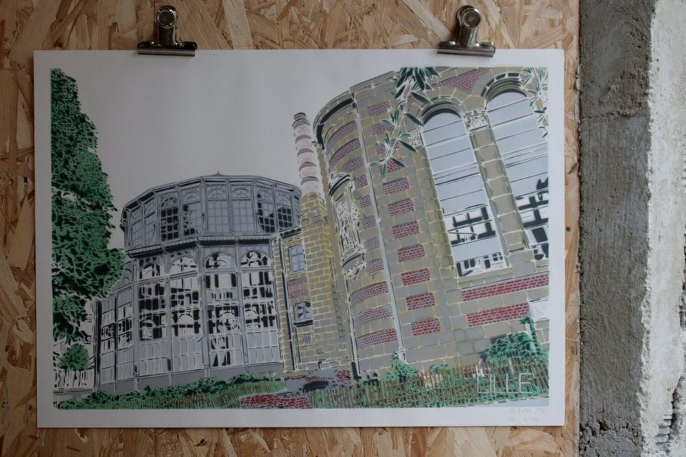 Image of Lille-Palais Rameau-couleurs-papier blanc