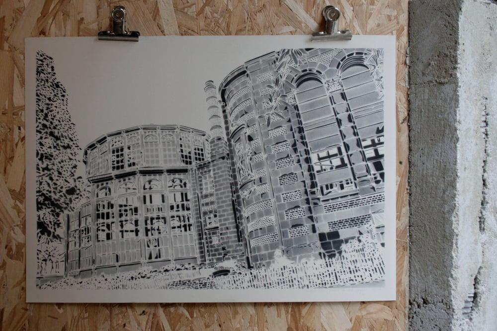 Image of Lille-Palais Rameau-monochrome
