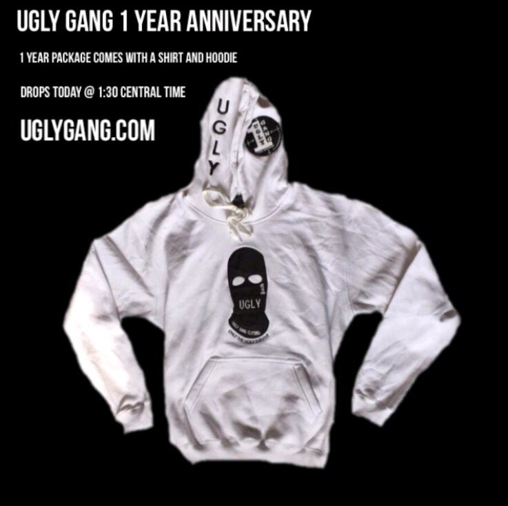 Image of 1 Year Anniversary Ski Mask Package (hoodie & shirt)