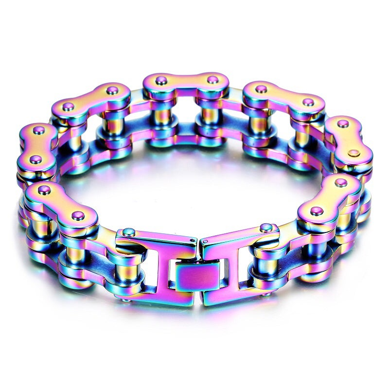 Image of Titanium Color Stainless Steel Chain Bracelet