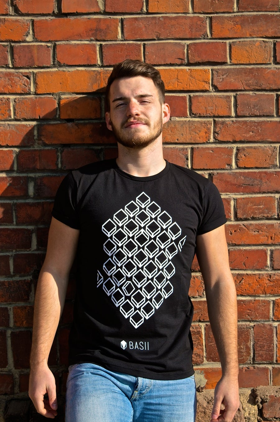 "Image of SHIRT // ""HEXAGON"" // BLACK"