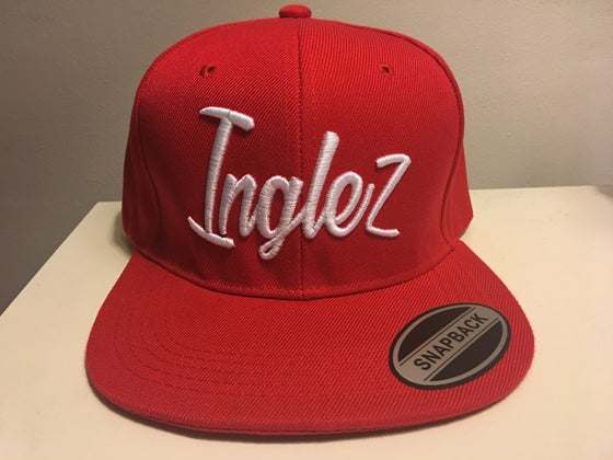 "Image of WKI ""Inglez"" Snapback Hat (Red/White)"