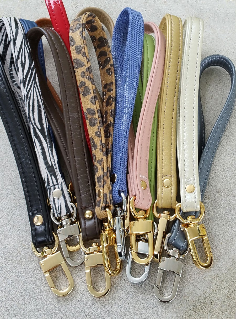 Image of Free* Accessory Wrist Strap Promotion - Genuine Leather or Suede - Choose Your Color & Hook Finish